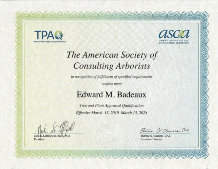 TPAQ – Tree and Plant Appraisal Qualified