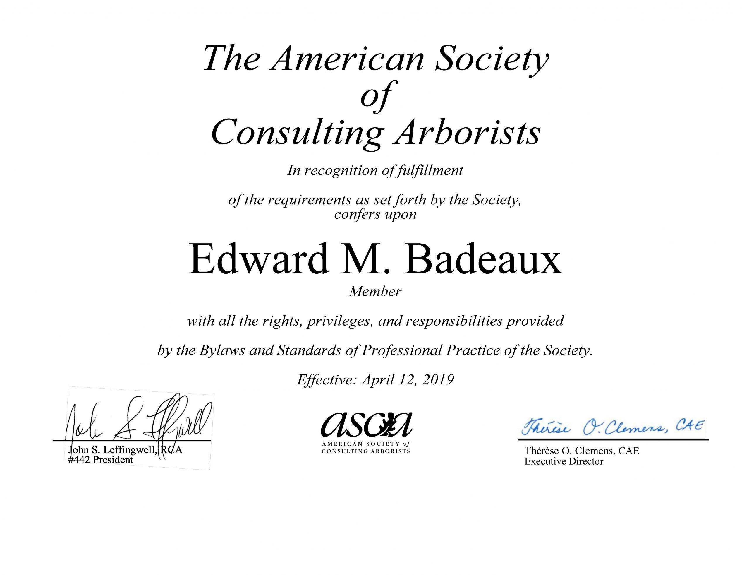 Consulting Arborist Service