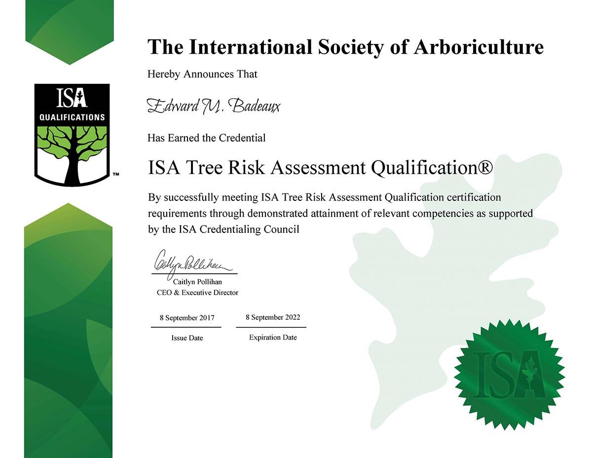Tree Risk Assessment (TRA)