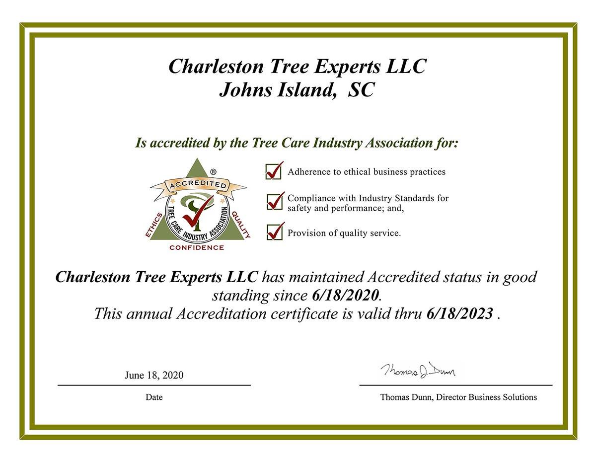 TCIA Accredited Tree Care Company