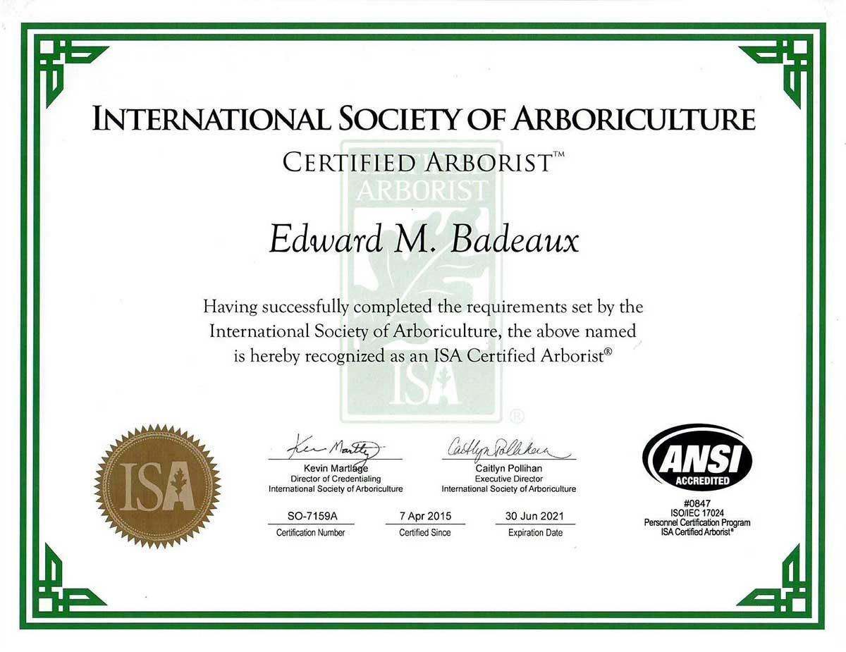 ISA Arborist Certificate