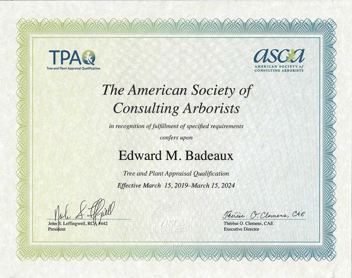 TPAQ Tree and Plant Appraisal Qualified